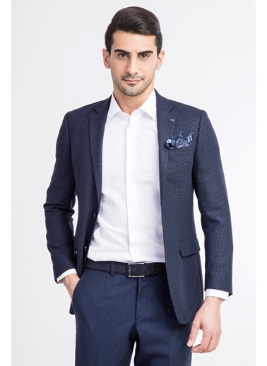 Kiğılı Ceket Mavi